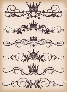 Divisórias de página para seu projeto vetor e ilustração royalty-free royalty-free