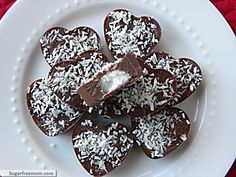 Valentine Coconut Filled (aka Mounds) Candy [Nut, Dairy, Sugar, & Gluten Free]