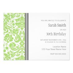 Shop Aqua Grey Birthday Party Invitation created by DreamingMindCards. 30th Birthday Ideas For Women, 30th Birthday Parties, Birthday Party Themes, Custom Invitations, Birthday Invitations, Popular Birthdays, Birthday Woman, You Are Invited, Colored Envelopes