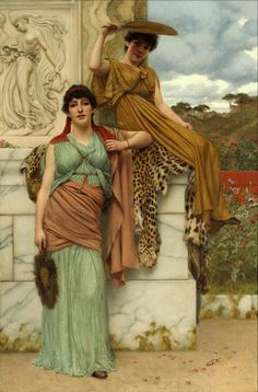John William Godward  Waiting for the Procession (1890)  oil on canvas  42¼ X 28 in.
