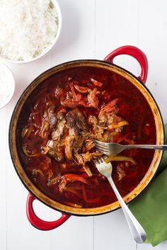 Recipe: Jamie Oliver's Pork and Chile-Pepper Goulash — Cooking Fresh from the Pantry | The Kitchn