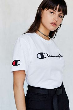 Champion + UO Logo Tee - Urban Outfitters