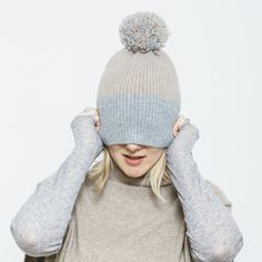 Cashmere PomPom Hat
