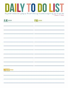 Free Printable To Do Lists | Daily & Weekly | Instant Downloads