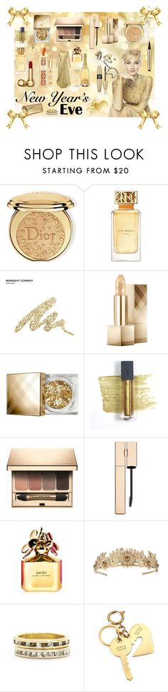 """""""Golden Winter"""" by majalina123 ❤ liked on Polyvore featuring beauty, Victoria's Secret, House of Holland, Christian Dior, Tory Burch, Urban Decay, Burberry, Bite, Clarins and Marc Jacobs"""