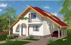 Image result for case de lemn preturi Dream House Plans, Modern House Plans, Modern Bungalow House, Design Case, White Houses, Home Fashion, Home Builders, Sweet Home, Construction