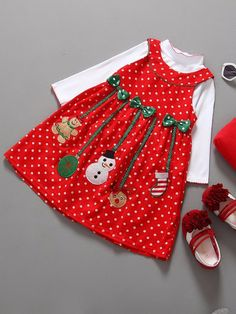 Cheap dress for girl christmas, Buy Quality fashion girl dress directly from China girls dress Suppliers: 2 pcs Fashion Red Dresses for Girls Christmas Costumes for Girls Long Sleeve Snowman Baby Clothes Lovely Girls Dress Vestidos Kids Outfits Girls, Girl Outfits, Girls Dresses, Dress Outfits, Summer Dresses, Baby Girl Christmas, Winter Christmas, Christmas Snowman, Kids Suits