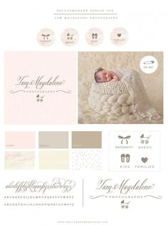 The fonts in this design and beautiful! Also love using brown in whatever the chosen colour scheme is for newborns..