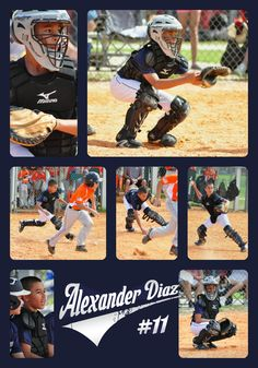Catcher Baseball photo collage of Action shots  TLC Photography
