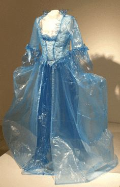 ball gown made out of plastic