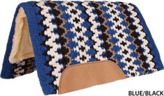 Mustang Heavy Navajo Fleece Saddle Pad Blue/Black: Mustang Heavy Navajo Fleece Saddle Pad The… #Horse #Horses #Pets #Equestrian #Rider