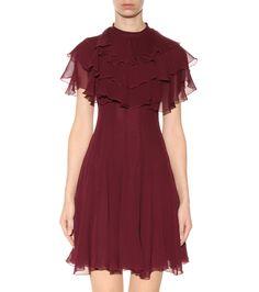 mytheresa.com - Ruffled silk dress - Luxury Fashion for Women / Designer clothing, shoes, bags
