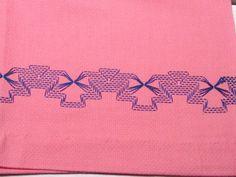 Vintage Linens Bubblegum Pink Swedish Weave Huck Towel Hand Towel Display | eBay
