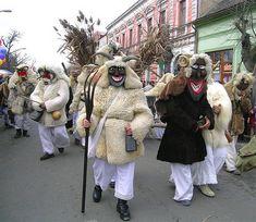 Mohács, Hungary. Busójárás; a pagan festivity.