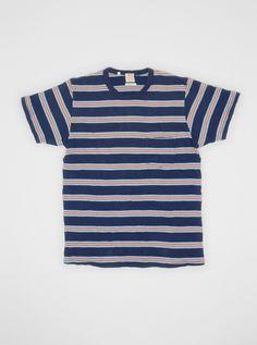 1960s Striped T-shirt Medieval Blue, Levis Vintage