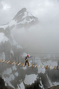 Picture of a Crazy Hiker on Mt Nimbus, Canada