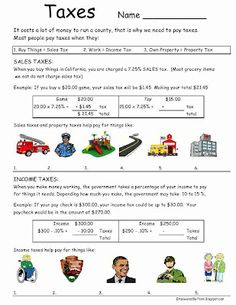 Life Skills - Teaching about taxes