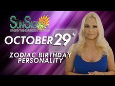 Scorpio Zodiac Facts - 29th October Birthday Horoscope For 2015 - 2016 - YouTube