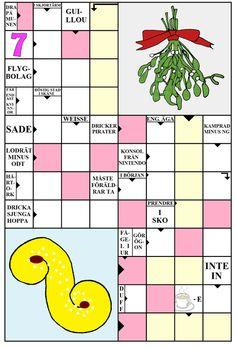 Språkinriktad undervisning. Begrepp-idé. Korsord med jultema Word Puzzles, Xmas, Christmas, Preschool, Education, Creative, Kid Garden, Navidad, Navidad