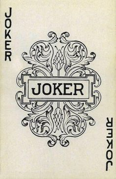 A joker card from the Watson Bros. Co. Inc. Bonded Transportation publicity playing card deck. The artwork on the front seems to be from the 1950′s. Some research put this company in Minnesota around then but I've also found earlier mentions dating back to the 30′s.