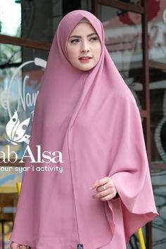Khimar Anita Dusty Pink by Hijab Alsa Hijab Niqab, Muslim Hijab, Hijab Chic, Mode Hijab, Hijab Outfit, World's Cutest Girl, Indonesian Women, Moslem Fashion, Hijab Trends