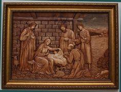 """панно на библейскую тему """"Рождество Христово"""""""