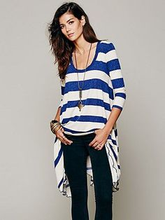 Free People Stripes And Trapeze Dress