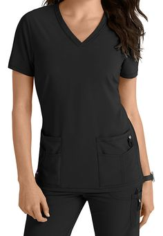 Lynx Untamed-- break free from ordinary scrubs! This new collection offers VersaTec 4-way stretch material that provides movement at the stress points (back yoke and armholes) to give you additional m