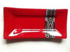 Red Pattern Slab Platter - by Sarah Dionne