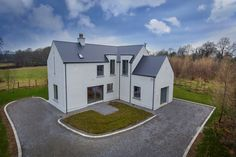 mckenna + associates - Contemporary House Design - Registered Architects & Chartered Building Surveyors House Designs Ireland, Dormer Bungalow, Cottage Extension, L Shaped House, Self Build Houses, Farmhouse Renovation, Ireland Homes, Red Roof