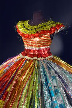Virpi Vesanen-Laukkanen from Finland, textile artist whose dresses and corsets of candy wrappers are world famous