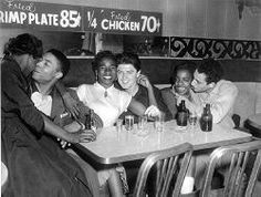 Integrated Couples in Bar, 1959 || #bwwm #wmbw