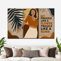Canvas Wall Art, Canvas Prints, Custom Wall Murals, African American Women, Femininity, Woman Quotes, Women Empowerment, Modern Decor, Elephant