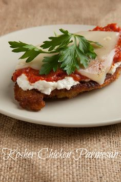 Kosher Chicken Parmesan with non dairy cheeses from Tofutti