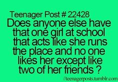 Yep except everyone likes her except me and one other person