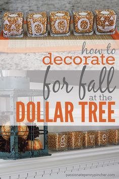 How To Decorate for Fall at the Dollar Tree is part of Fall crafts DIY - How To Decorate for Fall at the Dollar Tree Passionate Penny Pincher is the 1 source printable & online coupons! Get your promo codes or coupons & save Fall Home Decor, Autumn Home, Diy Home Decor, Dyi Fall Decor, Diy Fall Crafts, Fal Decor, Fall Kitchen Decor, Decor Room, Kitchen Ideas