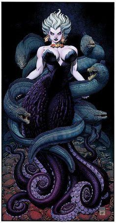 Sea witch by Arthur Adams La bruja Del Mar Ursula Comic Book Artists, Comic Books Art, Comic Art, Sea Witch, Witch Art, Disney Kunst, Disney Art, Ursula Disney, Fantasy Creatures