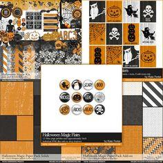 Halloween Magic Scrapbooking Collection - Digital Scrapbooking Kits