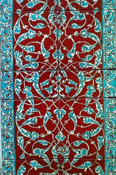 tiles handpainted by Spring, Iznik, Turkey