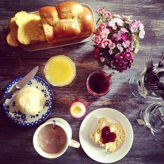 Petit déjeuner trop chouette  #instafood