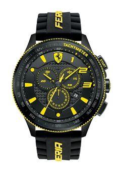 28f4eb10d2b Ferrari - Men s Chronograph Scuderia Black Silicone Strap Watch 830139 for  Men - Lyst