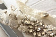 Feminine yet utterly stylish and refined, MillieIcaro garters are made of sheer tulle or organza fabric with beautifully engineered lace, or delicately beaded with the glow of swarovski crystals and p