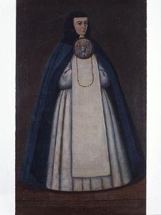 Anónimo, Retrato de sor Ana Rita de Guadalupe González de la Torre, convento de La Concepción de Puebla, óleo sobre tela, posterior a 1777, 177 x 106 cm., colección, Museo Nacional del Virreinato-INAH, catalogación por Juan Carlos Cancino.