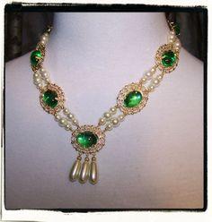 Beauty Tudor Renaissance Necklace by RecycledRockstah on Etsy, $29.00