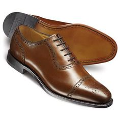 Brown Clarence toe cap brogue shoes | Men's business shoes from Charles Tyrwhitt | CTShirts.com