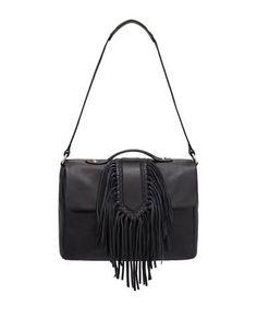 Sam Edelman Michelle Fringed Shoulder Bag Women's Black