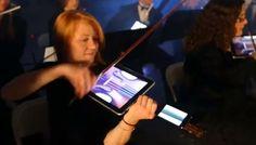 Symfoniorkester möter modern teknik och spelar Beethoven på Appleprodukter http://blish.se/769bf436e7 #beethoven #ipad #iphone #orkester #humor