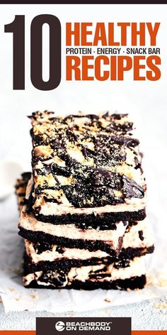Find your favorite new Beachbody bars recipe Healthy protein bars energy bars and snack bars healthy snack recipes Click the image for more info. Low Carb Protein Bars, Protein Bar Recipes, Gourmet Recipes, Snack Recipes, Breakfast Recipes, High Protein, Weight Loss Smoothie Recipes, Recipe 21, Energy Bars
