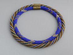 "Bead Crochet Necklace ""Constellation"""