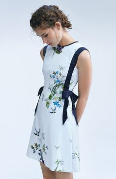 Main Image - Ted Baker London Sipnela A-Line Dress Pretty Dresses, Beautiful Dresses, Vestido Baby Doll, Mode Pop, Looks Party, Casual Dresses, Short Dresses, Casual Clothes, Work Fashion